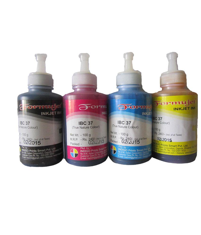 Food coloring online india - Formujet Color Ink Brother For Inkjet Printers 100 Ml Set 4