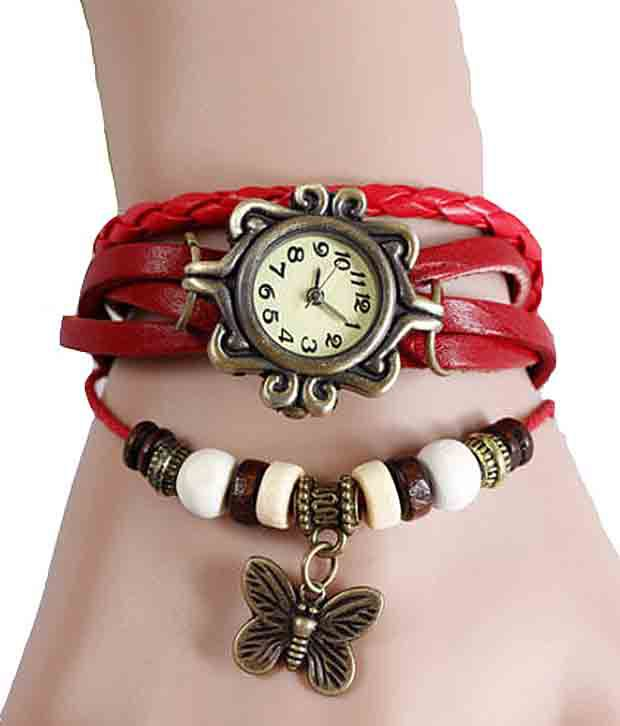 Frozen Apple Frozen Apple Red Round Bracelet Mechanical Designer For Women