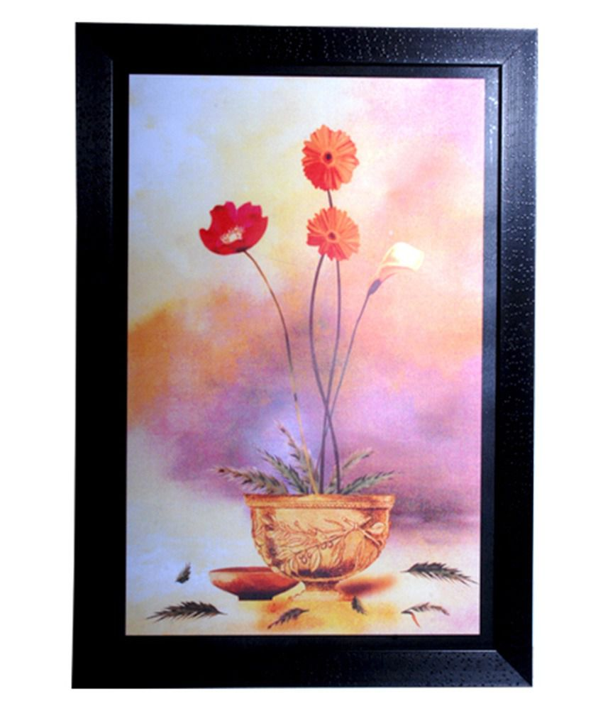 Snapdeal Wall Decor Items : Hrinkar wall decor printed frame black buy