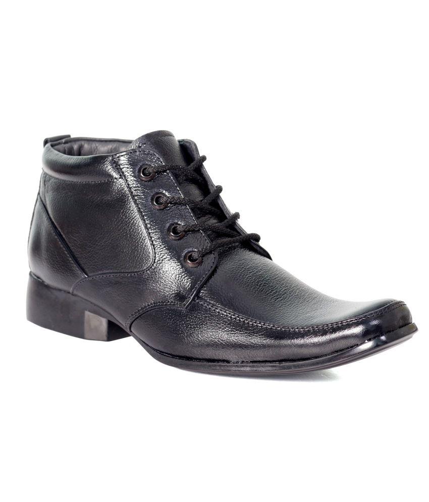 John Karsun Black Leather Lace Shoes