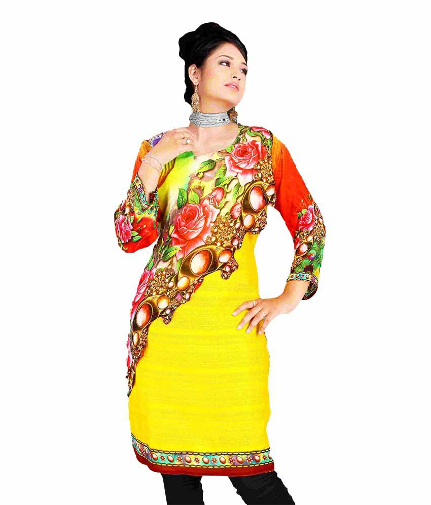 RK Fashion House Multi Color Georgette Unstitched Dress Material