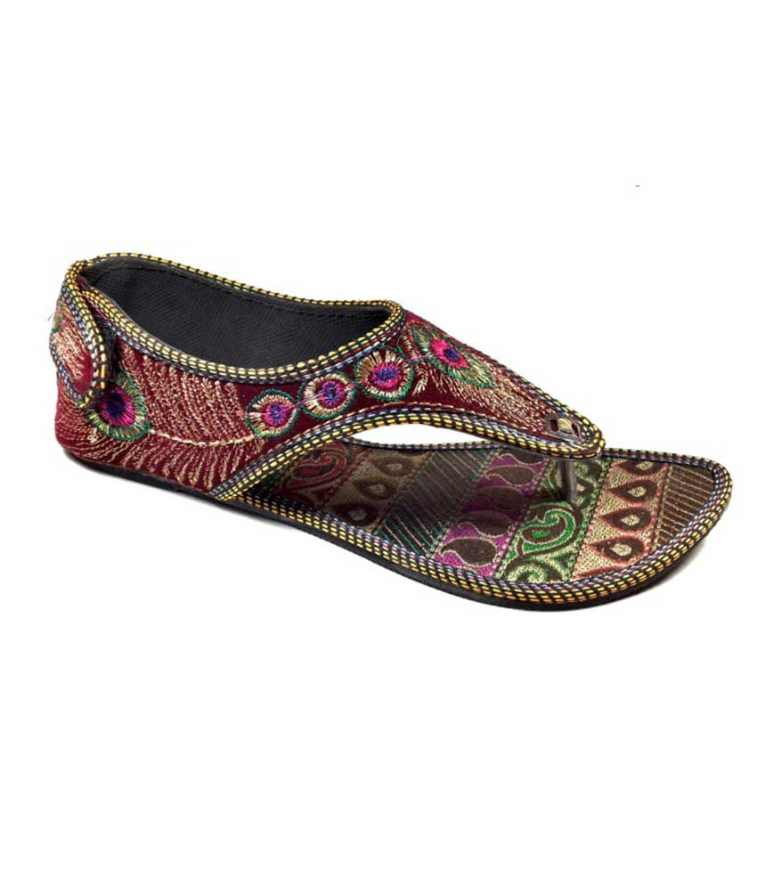 Plutos Stylish Flat Multi Colour Daliywear Footwear