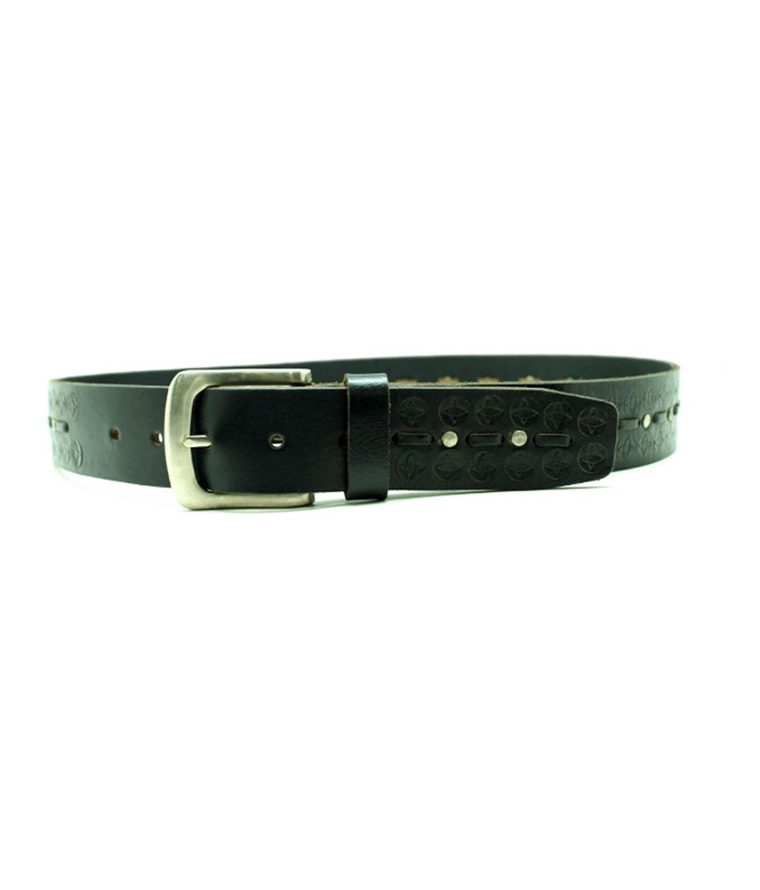 Urban Vintage Black Pin Buckle Classic Leather Belt