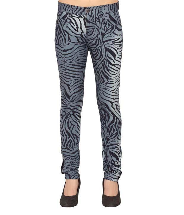 Thinc Gray Cotton Lycra Jeans