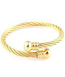 Magic Stones Gold Plated Mens Bracelet