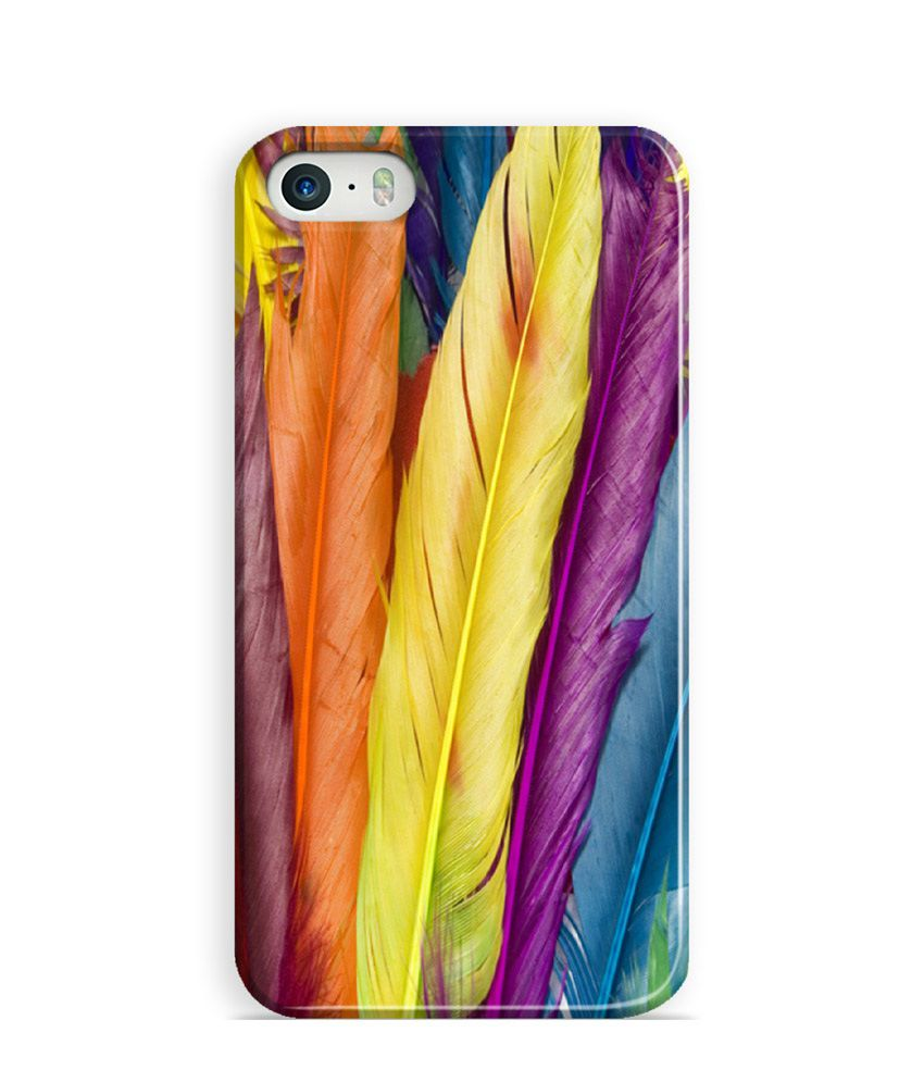 Artifa Colourful Feathers Design Phone Case For Apple Iphone 5s And Iphone 5