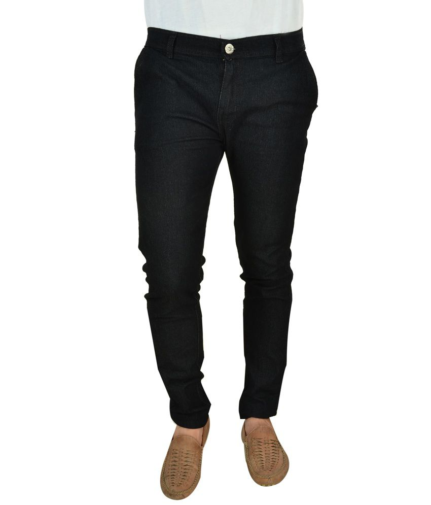 Fashion Narrow Fit Black Jeans