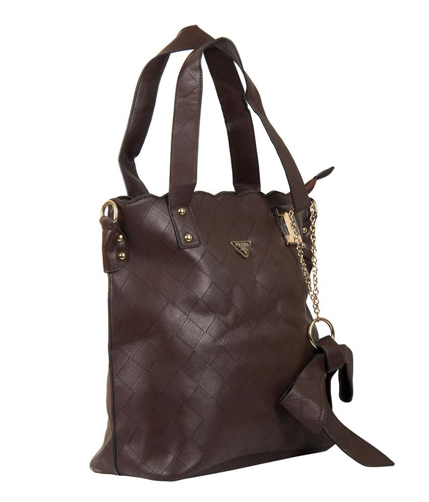 f314d63c8ea2 Prada Coffee Shoulder Bag - Buy Prada Coffee Shoulder Bag Online at Best  Prices in India on Snapdeal