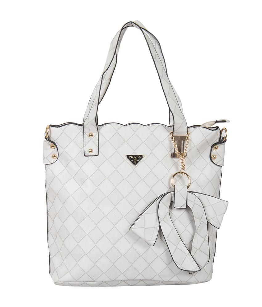 3b1ea3717f0e Prada White Shoulder Bag - Buy Prada White Shoulder Bag Online at Best  Prices in India on Snapdeal