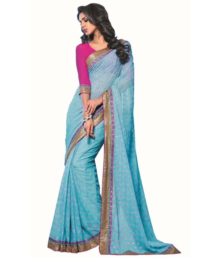 Sudarshan Silks Multicoloured Georgette Saree