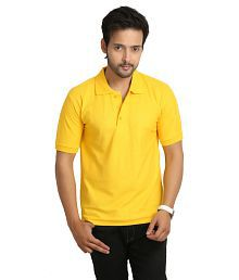 Weardo Yellow Half Sleeve T-Shirts for Boys