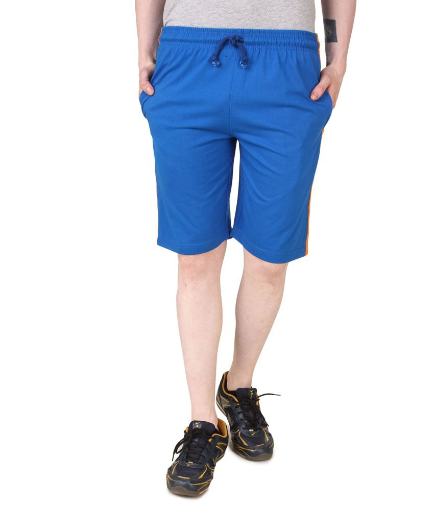 Aventura Outfitters Men's Jersey Shorts Royal Blue with Orange & White stripes