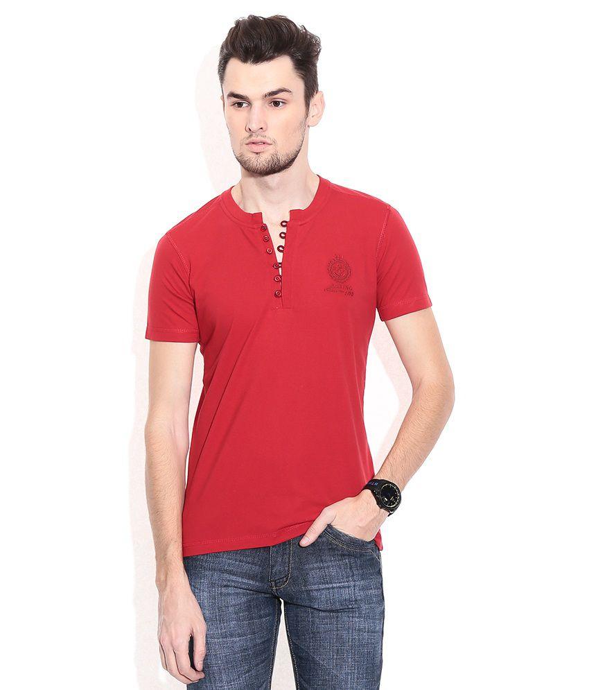 Duke Red Henley T-shirt
