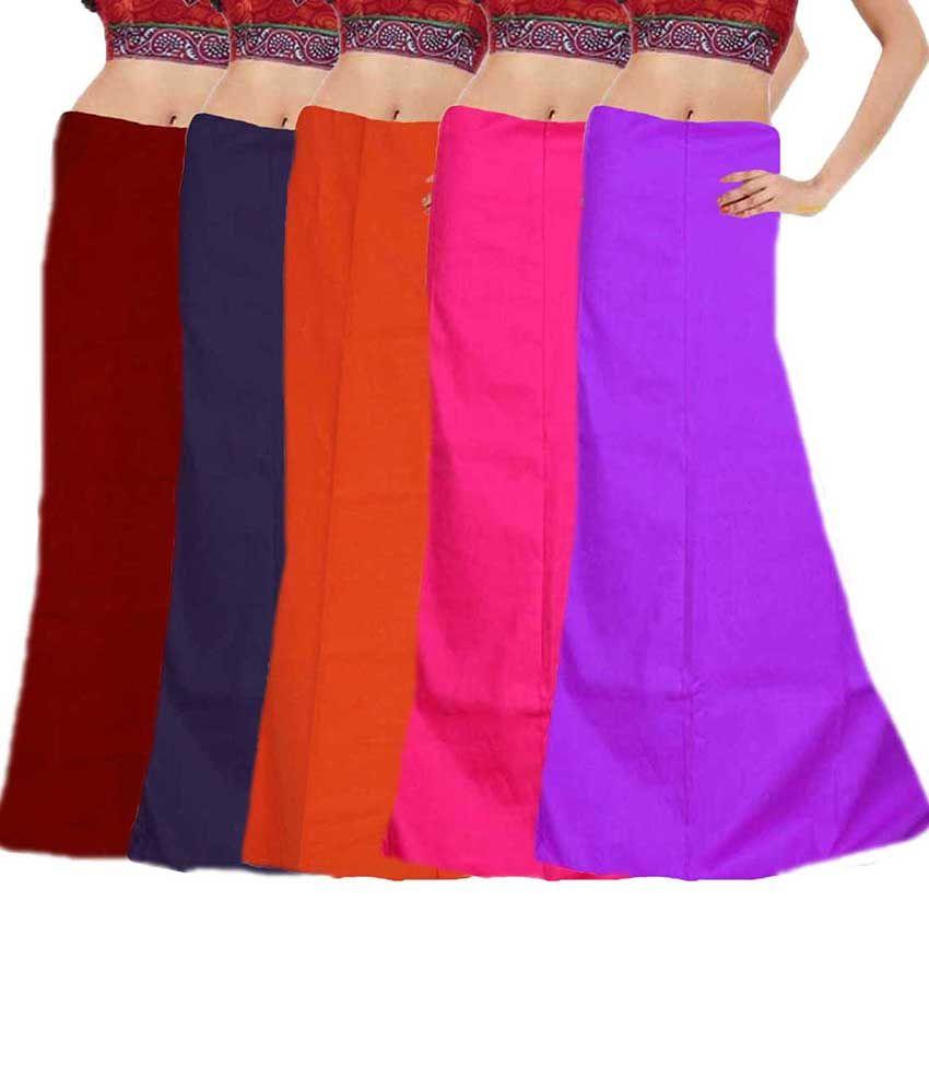 Javuli Pure Cotton 7 Part Saree Petticoat - Inskirt Set Of 5
