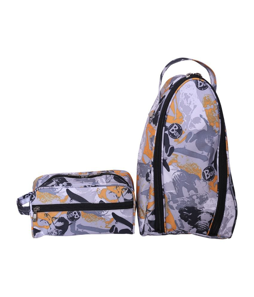 Bagsrus Multicolour Synthetic Combos - Set of 1 Toiletery Kit And 1 Shoe Bag