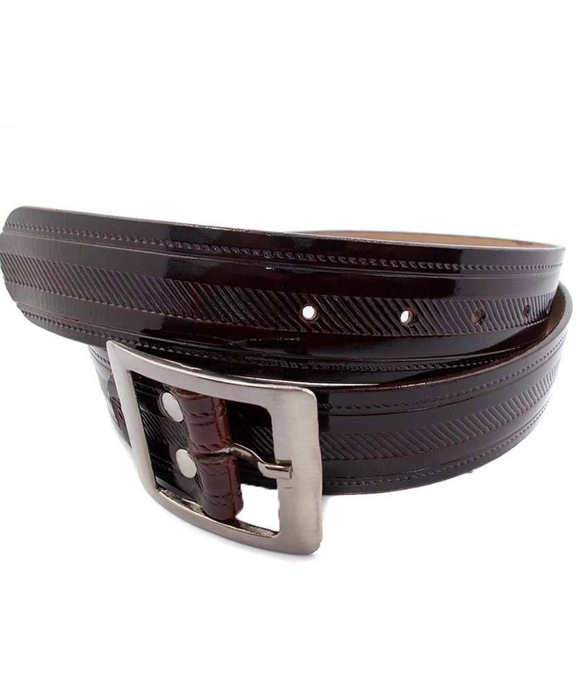 InleStreet Brown Pin Buckle Leather belt