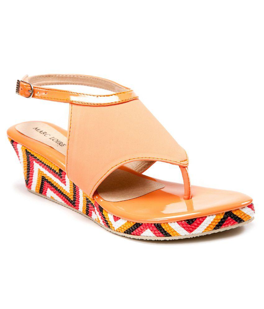 Marc Loire Orange Sandals