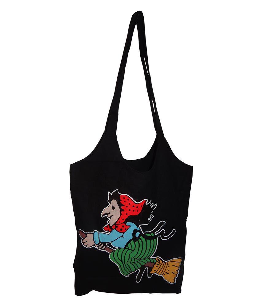 Richie Bags Black Canvas Cloth Tote Bag