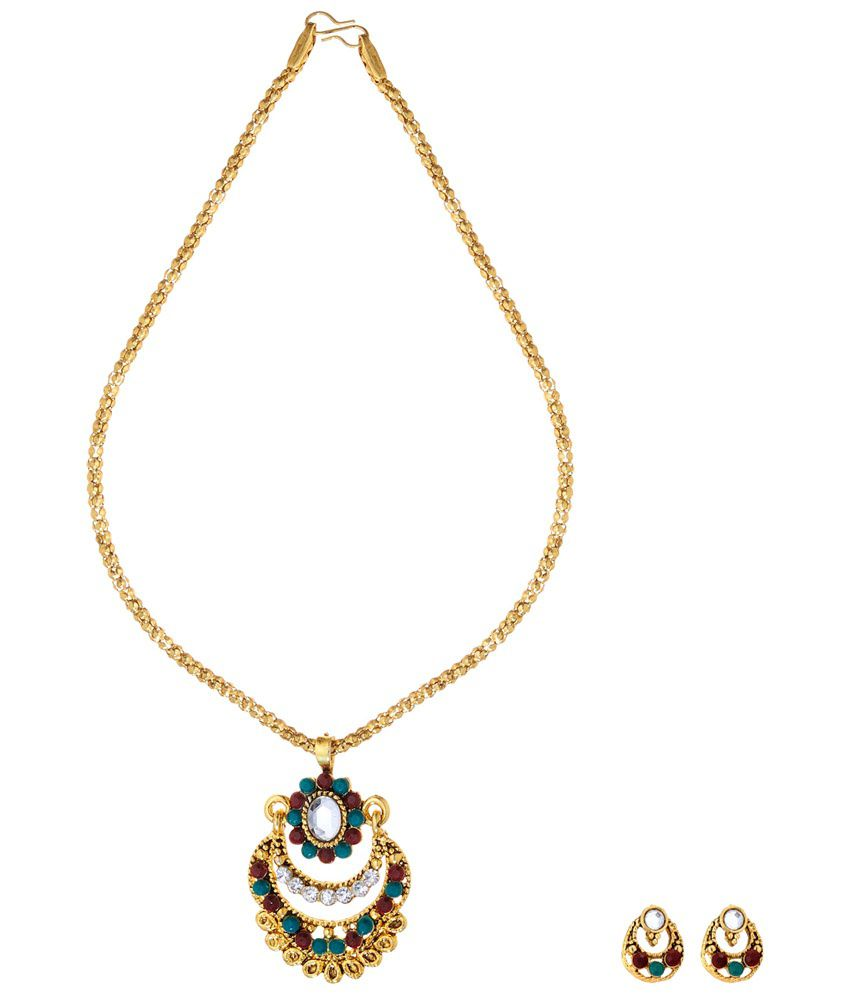 Ethnic Jewels Likable Multicolour Necklace Set