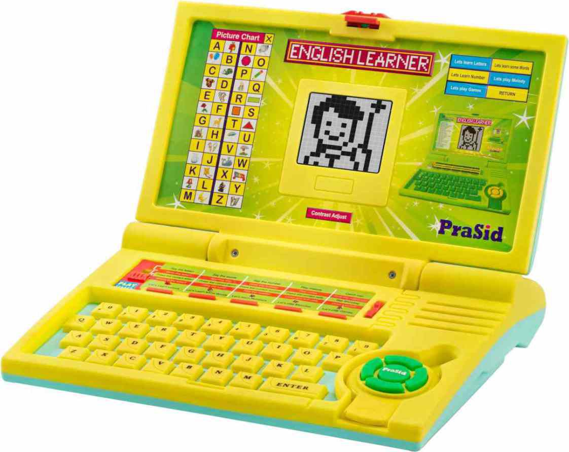 PraSid Kids English Learner Computer Toy Educational Laptop LemonSky