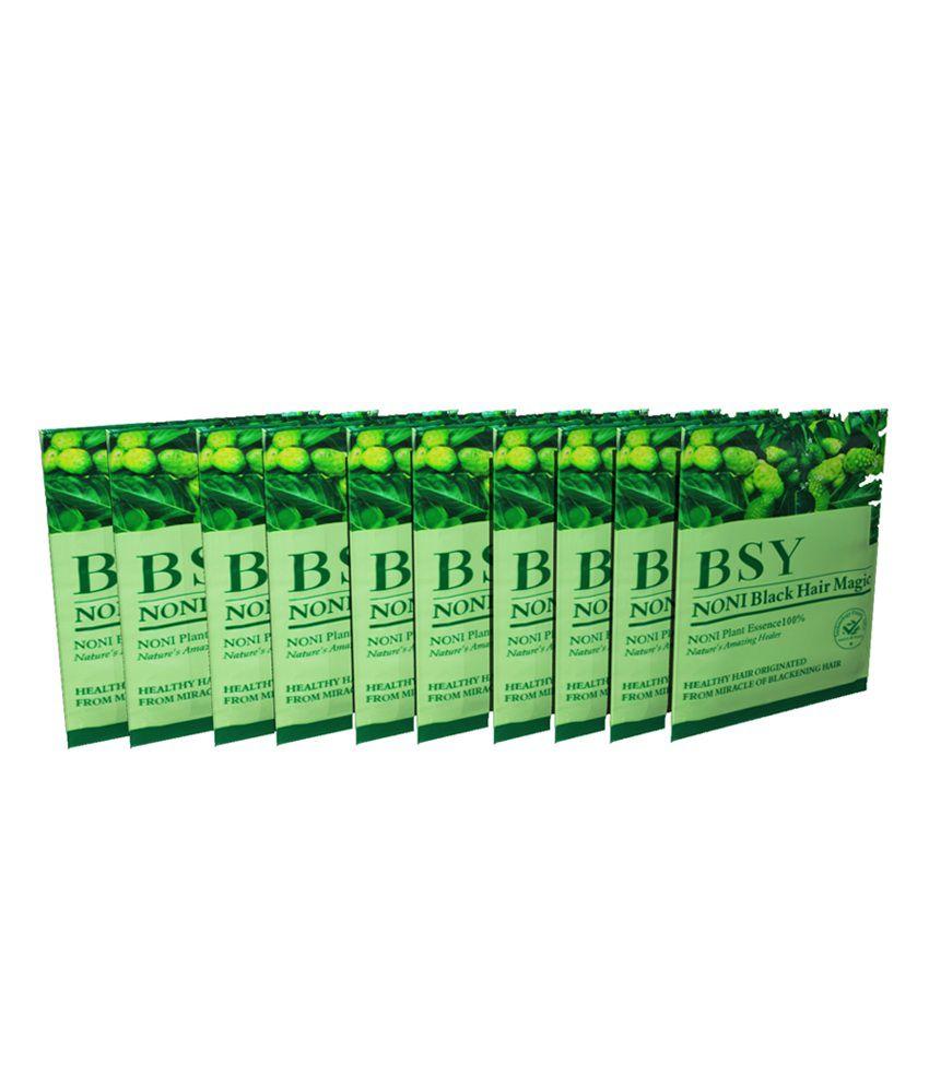 ... BSY Noni Black Hair Magic Shampoo Pack of 20 (Black)