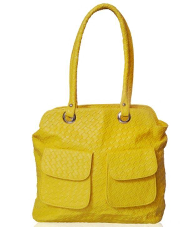 GuruNanak Yellow P.U. Shoulder Bags