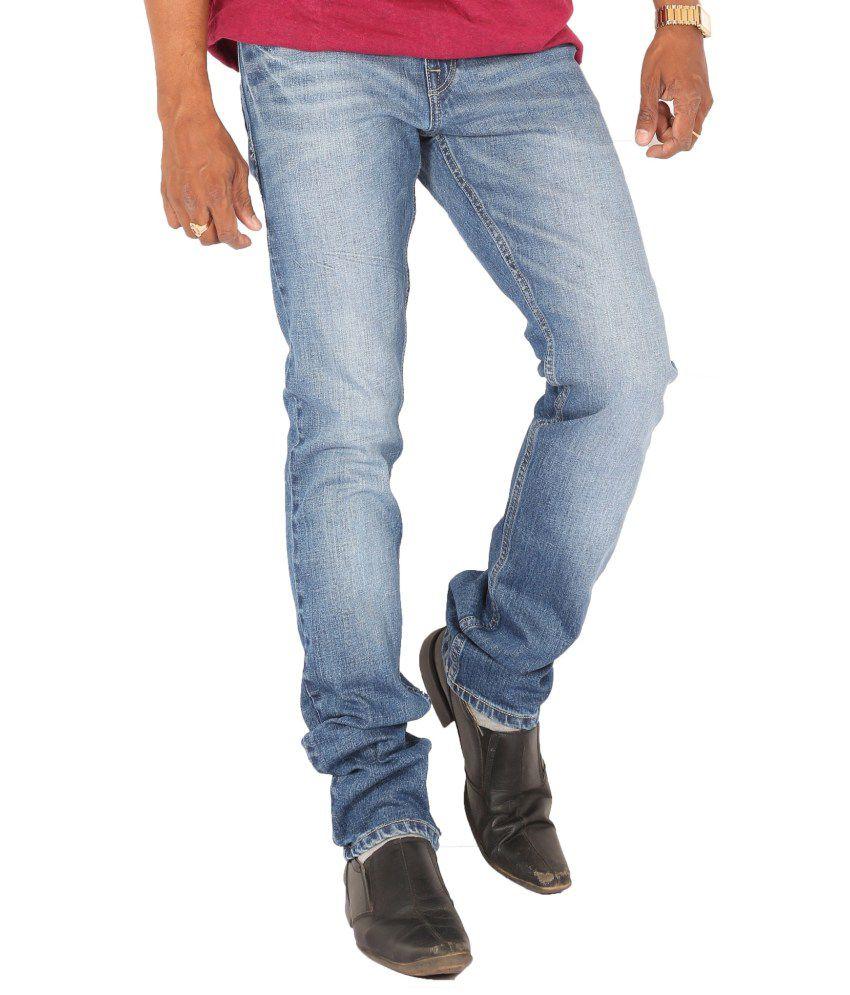 Levis Blue Cotton Blend Jeans