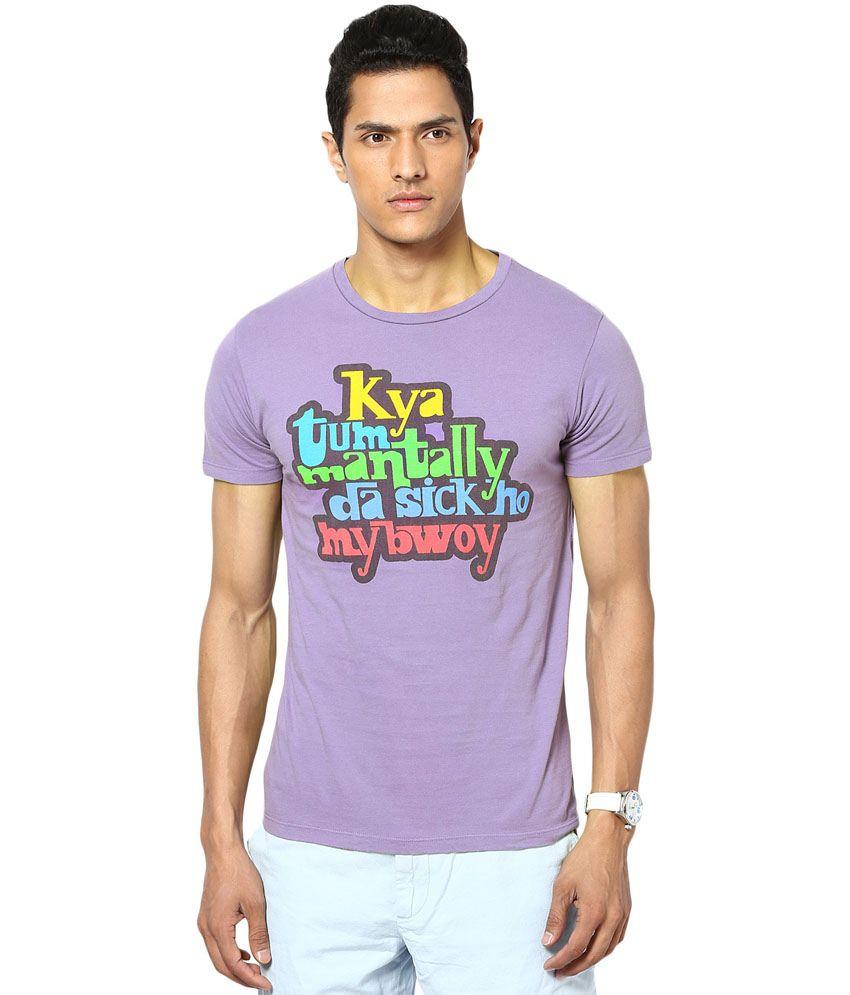 Gabambo Purple Cotton Znmd Bwoy Printed T-Shirt