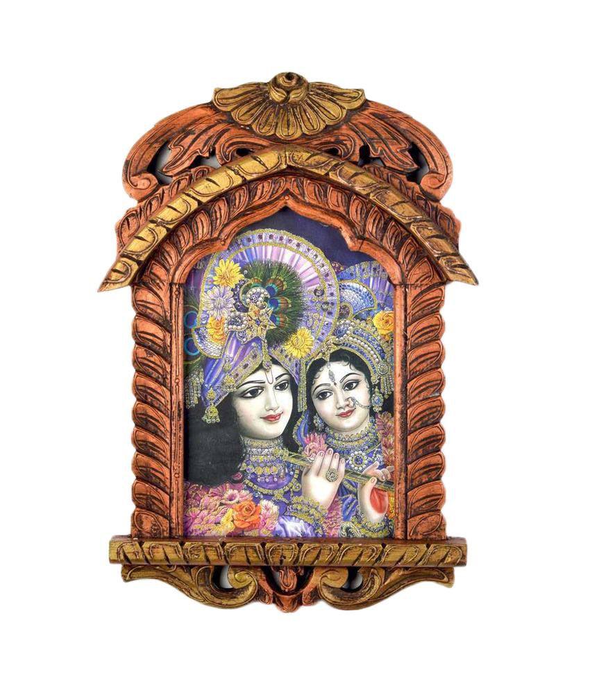 Jaipur Handicraft Lord Saral Bihari N Radha Wooden Jharokha Painting