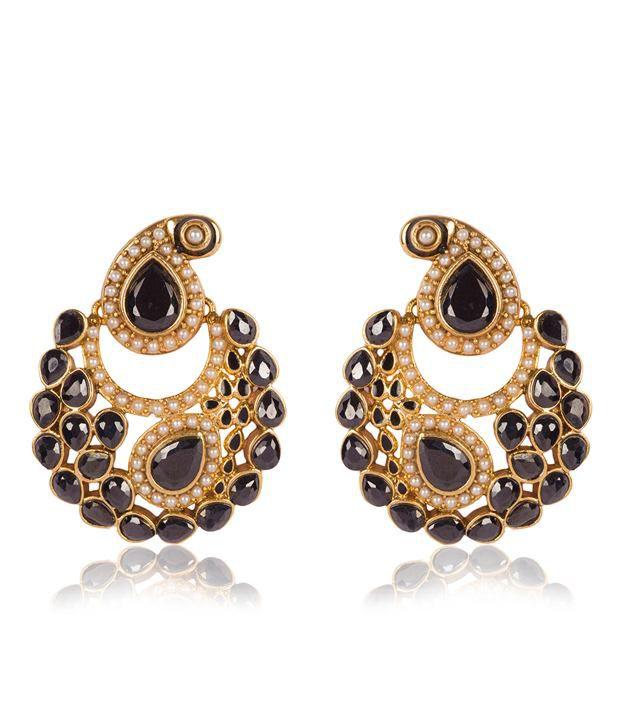 Aaishwarya Designer Ambi design Chandbali Earrings