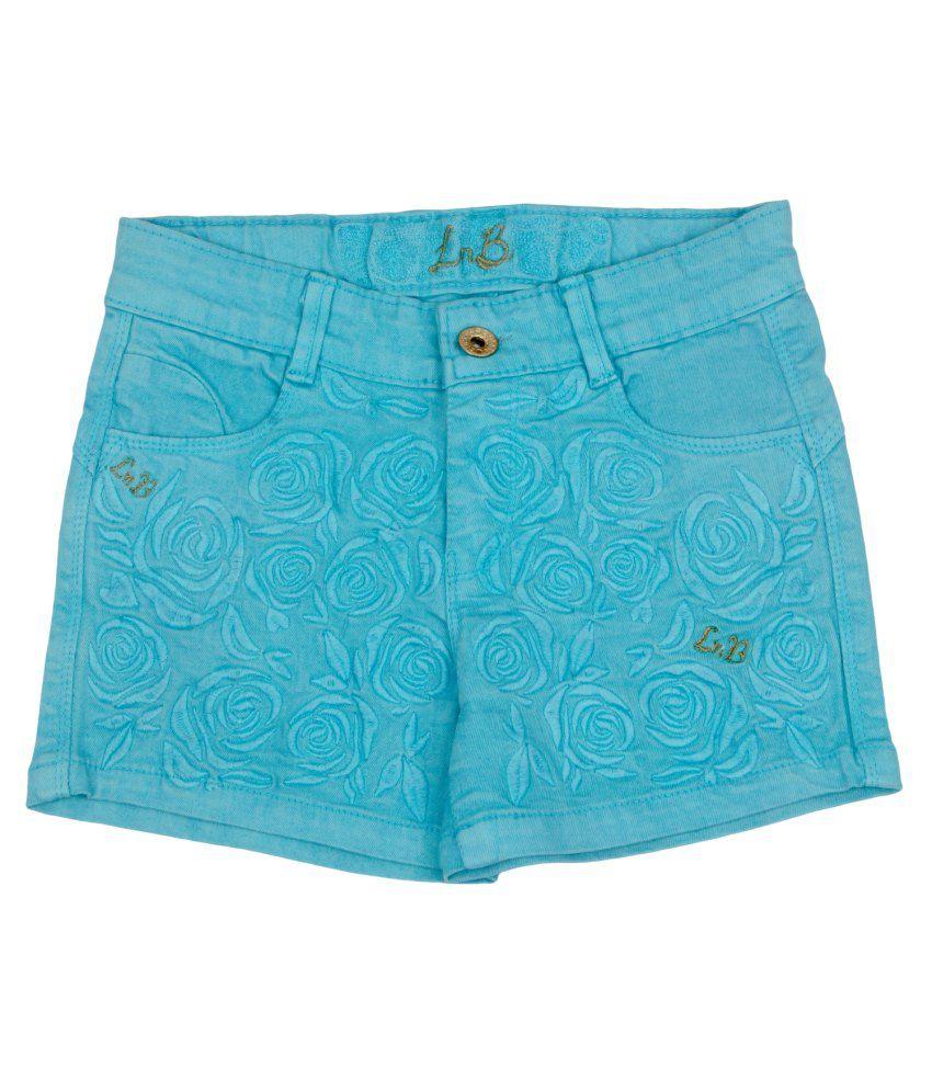 Leo n Babes Blue Cotton Short