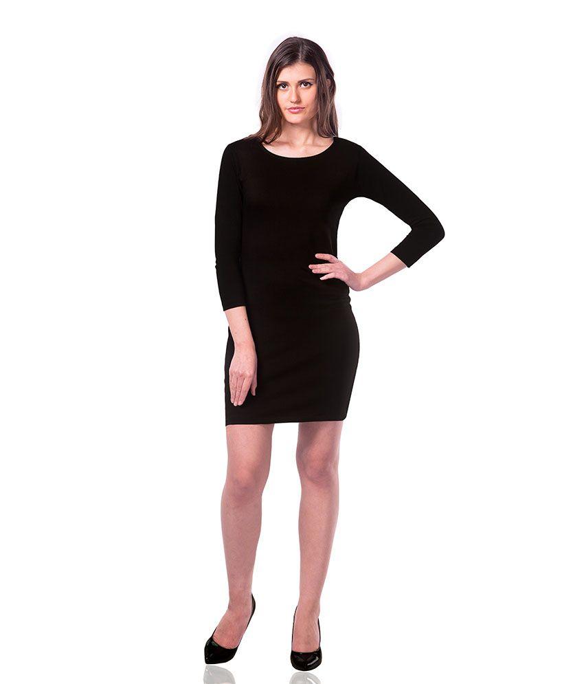 Blue black bodycon dress near me for women ecommerce