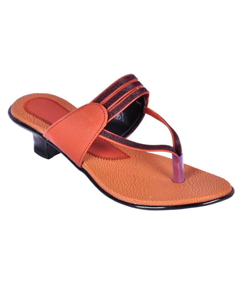 Shoe4u Kids Multi Colour Faux Leather Medium Heel Sandal For Women