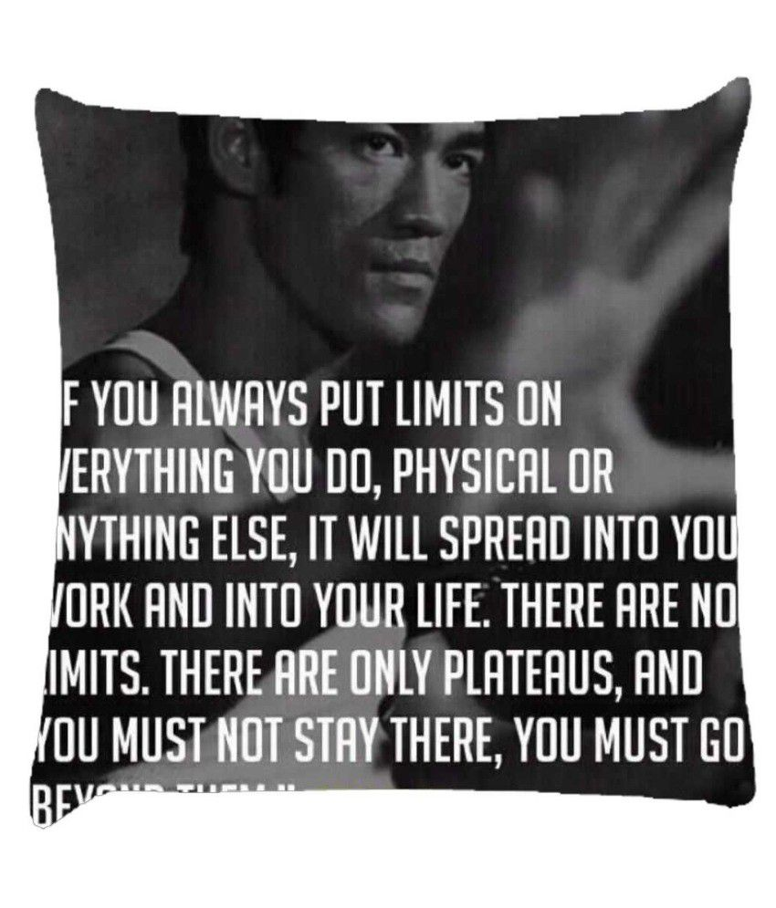 Snoogg Bruce Lee Fighter Quote Cushion Cover