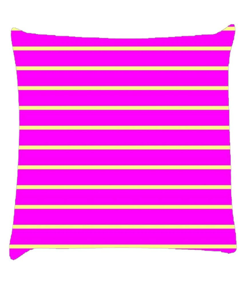 Snoogg Horizontal Lining Pattern Design 1812 Cushion Cover