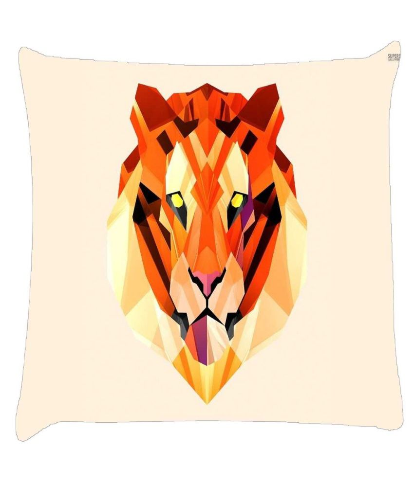 Snoogg Polygon Tiger 2896 Cushion Cover