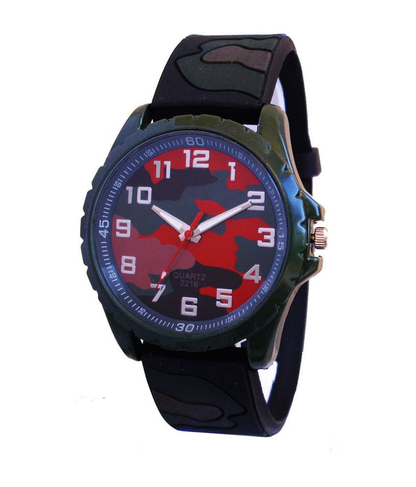 A Avon A Avon Multicolor Analog Rubber Sports Round Steel Watch