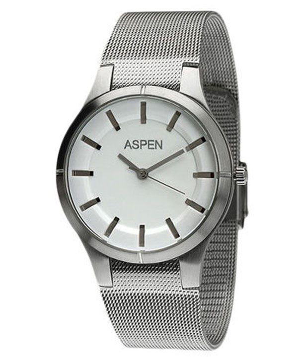 Aspen Men's Silver Analog Watch