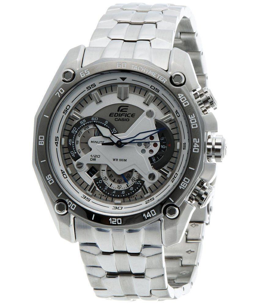 Casio Edifice Tachymeter Chronograph White Dial Men s Watch - Ef-550d-7avdf  (ed391) - Buy Casio Edifice Tachymeter Chronograph White Dial Men s Watch  ... 103a73d26d