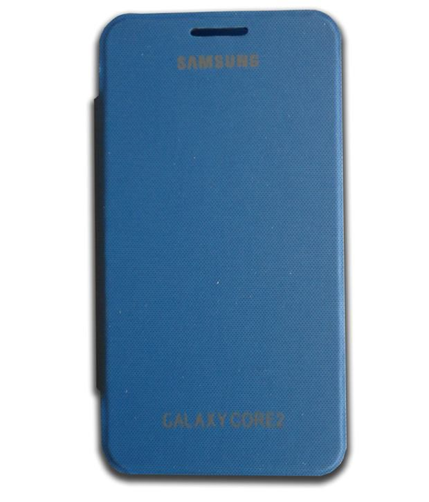 N+ INDIA Premium Quality Flip Back Cover For Samsung Galaxy Core 2 G355h - Blue