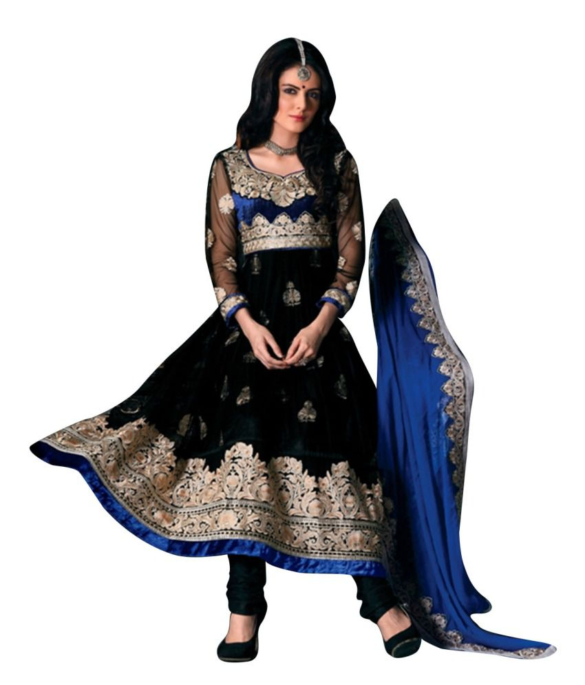 affdddd640 Brijraj Fashion Net Embroidered Anarkali Dress Material With Dupatta And  Bottam Fabric