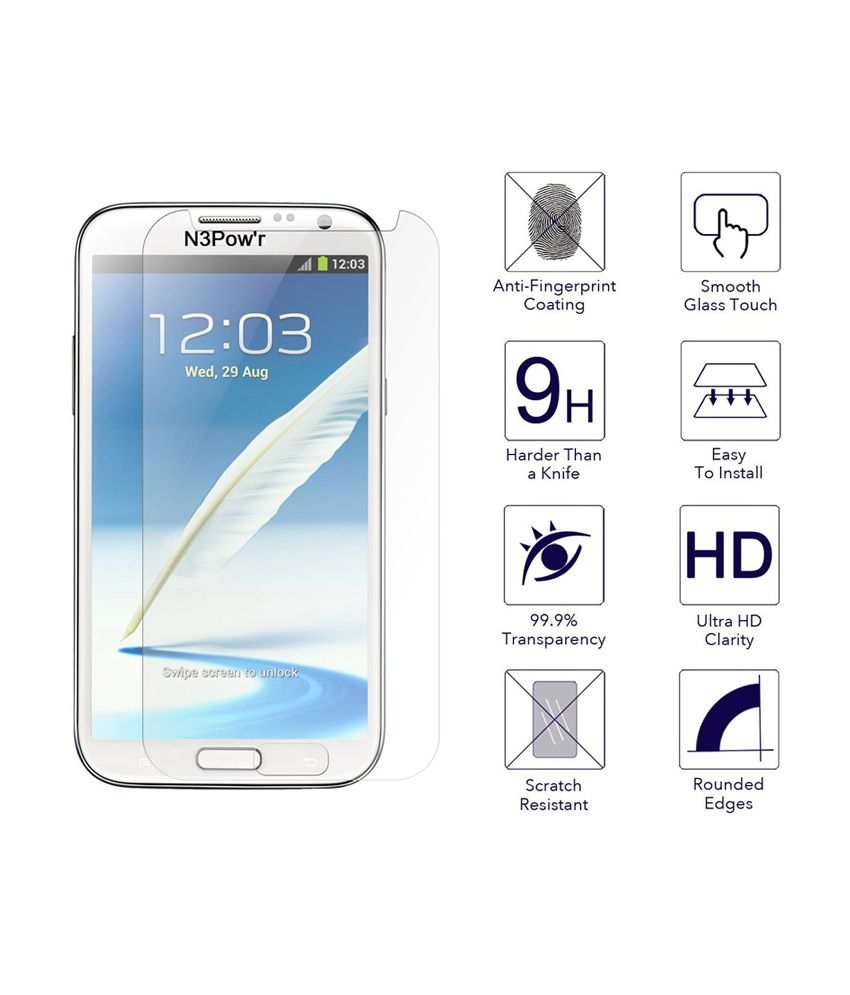 N3pow'r Micromax Canvas Knight A350 Tempered Glass Screen Guard