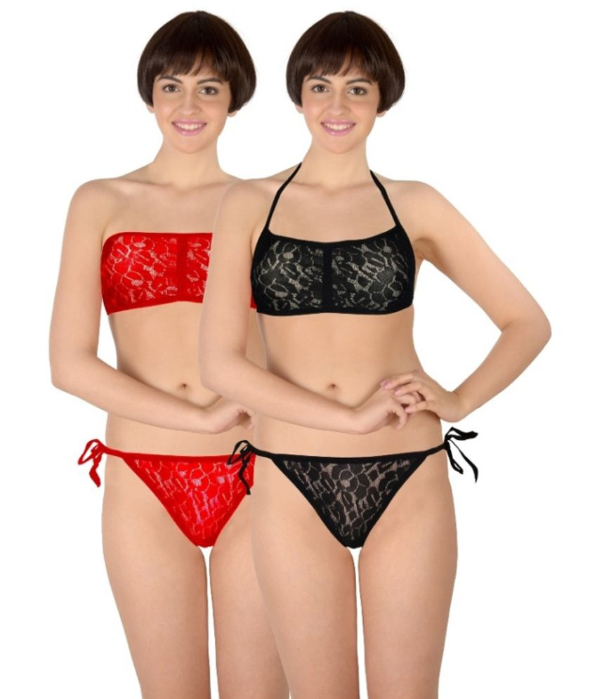 22024189b6d47 Buy Selfcare Multi Color Nylon Bra   Panty Sets Online at Best Prices in  India - Snapdeal