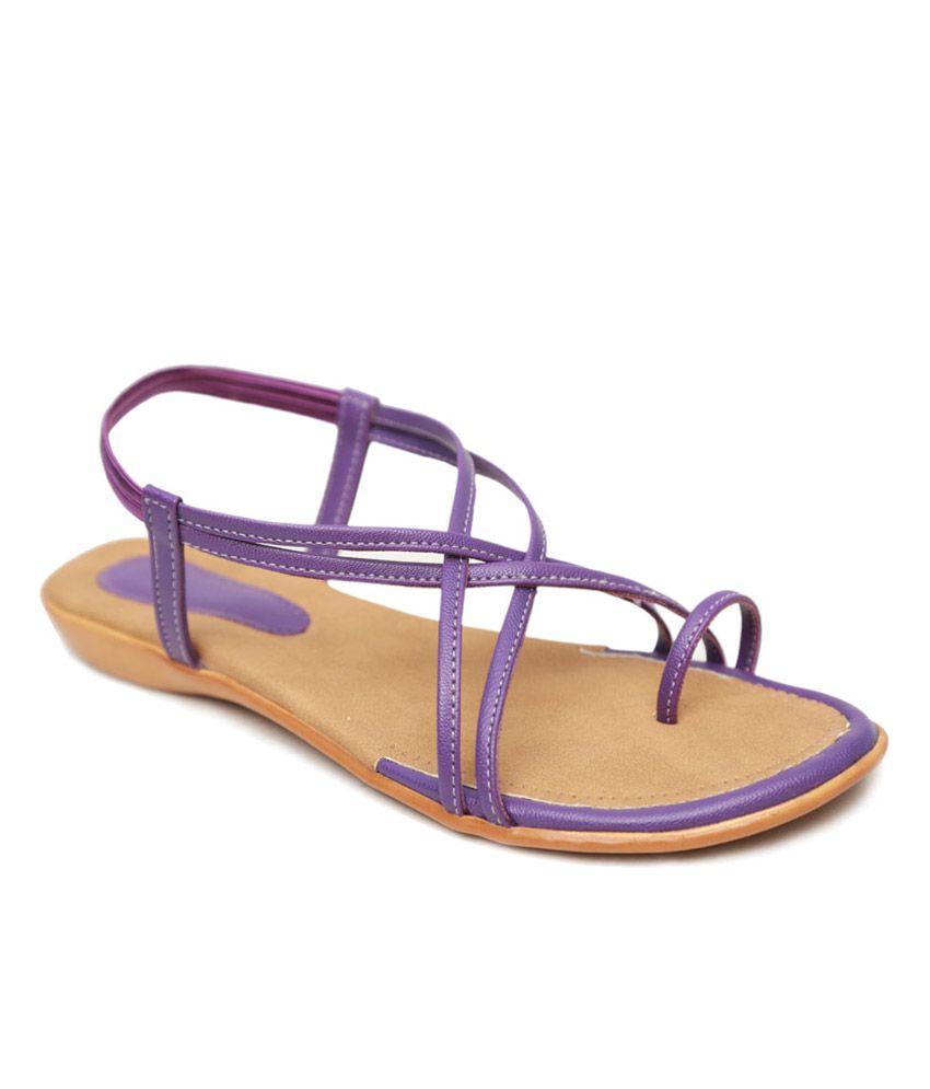 Soft Purple Faux Leather Women's Sandals