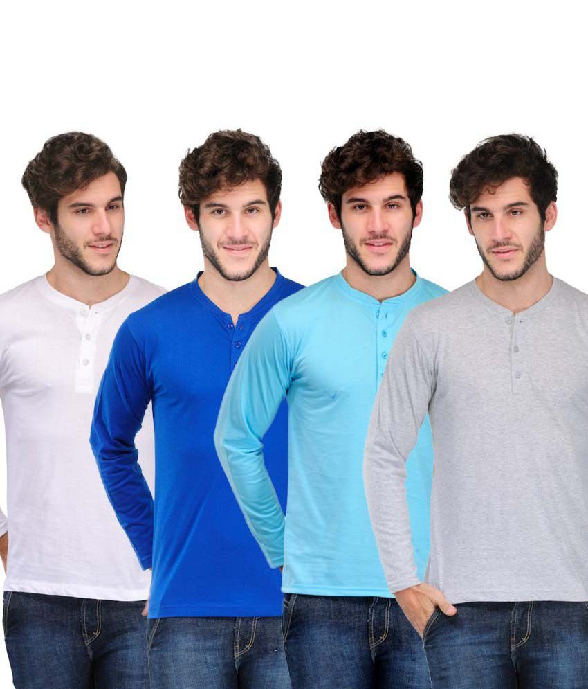 Tsx Stylish Henley Cotton T-Shirt