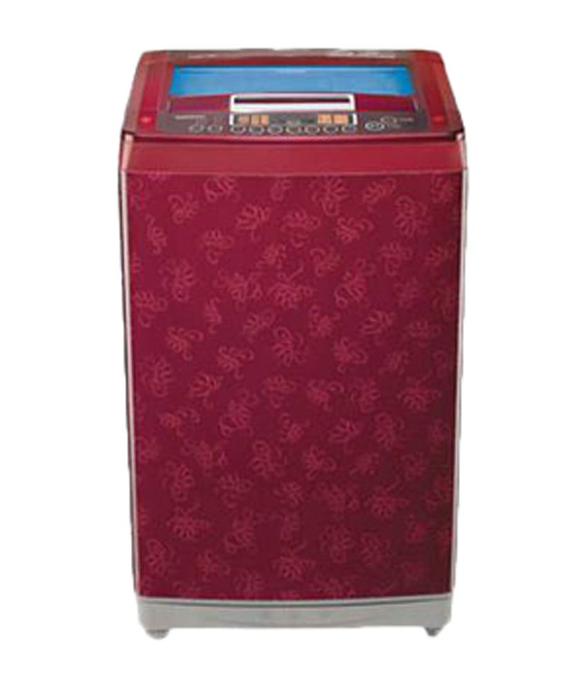 LG 7.0 Kg T8067TEEL3 Fully Automatic Top Load Washing Machine Dark Red Pattern