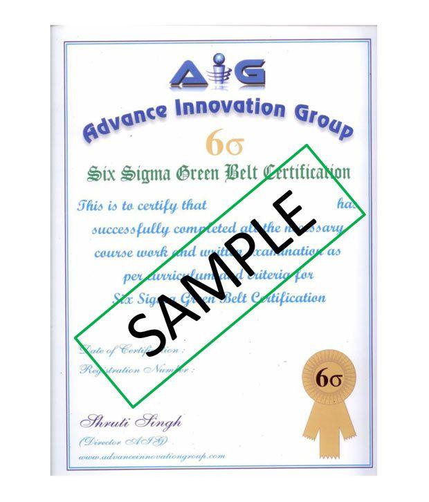 Lean Six Sigma Green Belt Certified Online Course By Advance