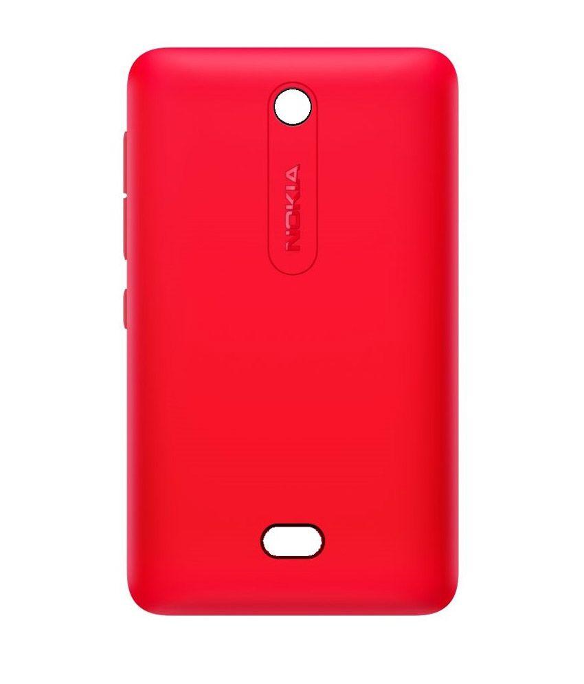 Nokia Back Cover For Nokia Asha 501 Red Plain Back