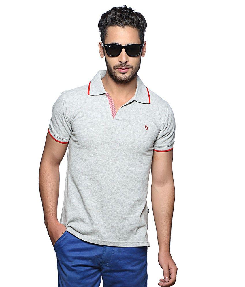 Nucode Grey V-Neck T-Shirt