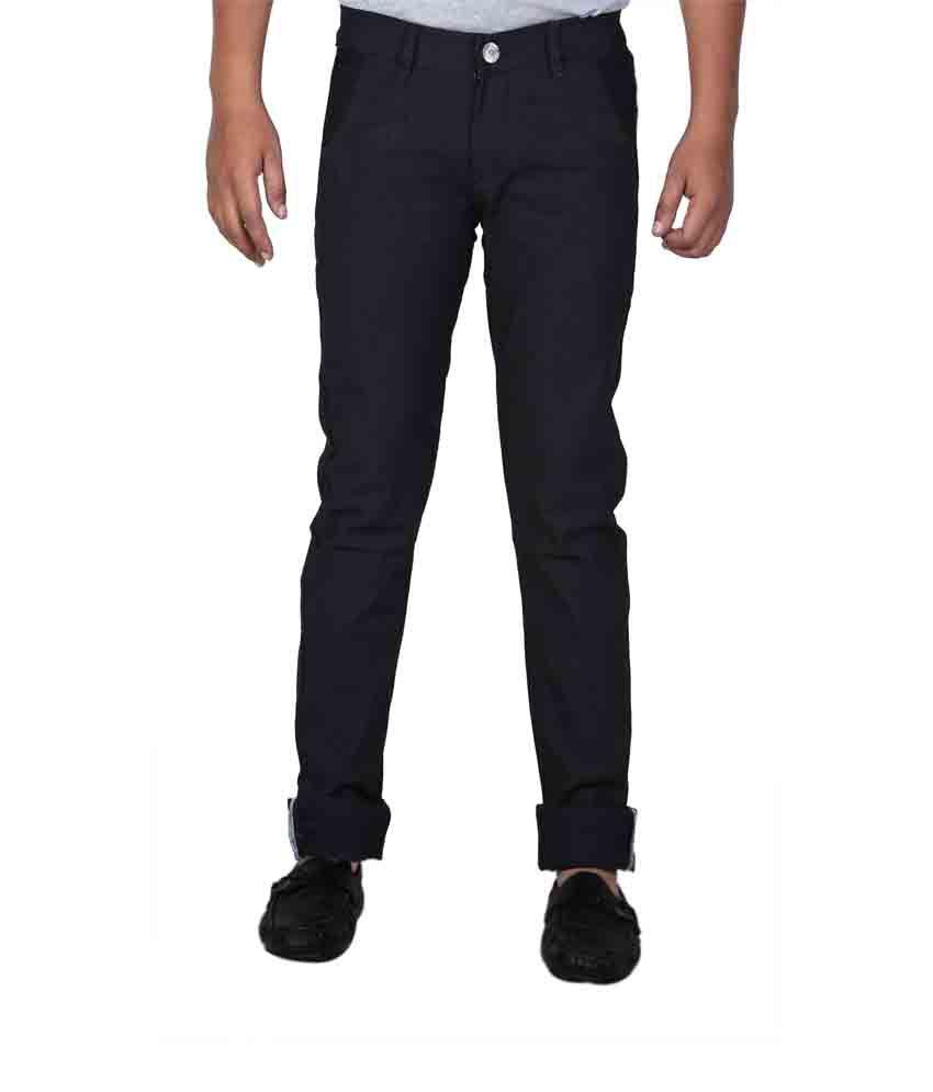 Western Texas 96 Black Cotton Basic Regular Fit Men's Jeans